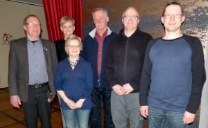 v.l.n.r. Uwe Maurek, Isabell Jahn, Ingrid Wiese, Jan Schlatermund, Kai Herrmann, Jan Löffler
