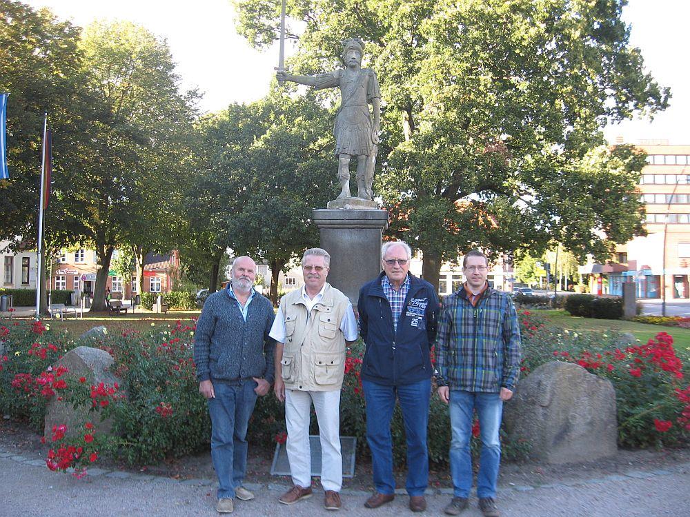 Organisations-Team v.l. Willi Jungjohann, P. Heinlein, K. Spethmann und Jan Löffler