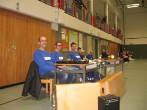 Turnierleitung in der Jürgen Fuhlendorf Schule