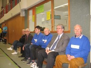 (von links Jürgen Sander, Arnold Helmke, Jan-Ole Wandersee, Horst-Dwenger, Bürgermeister Herr Kütbach, Wolfgang Mann)