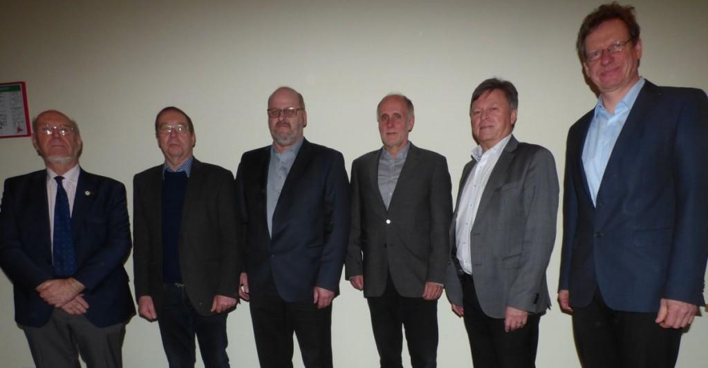 v. l. Günter Quast, Uwe Masurek BSV, Stephan Samkow LBSV, Uwe Dresel, Bernd Me
