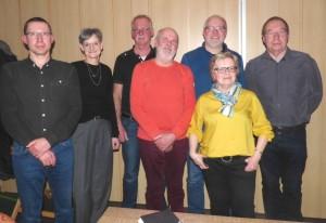 Vorstand:  V.l.n.r: Jan Löffler 2. Vors.; Isabell Jahn Kasse; Jan Schlatermund Presse; Willi Jungjohann Sportwart; Kai Herrmann Festausschuss; Ingrid Wiese Protokoll; Uwe Masurek 1. Vors.